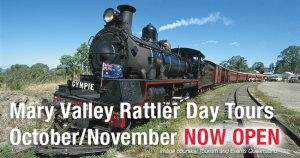 Mary Valley Rattler bookings open
